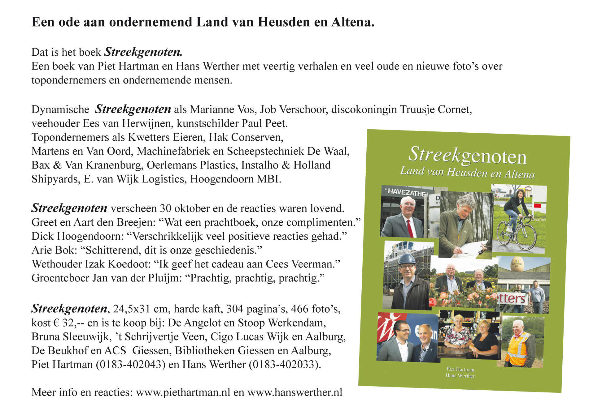 Advertentie in weekblad Het Kontakt.